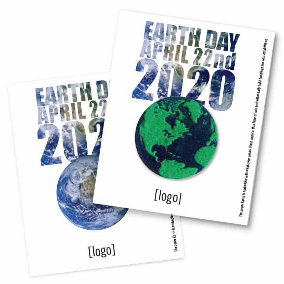 Seed Paper Shape Postcard