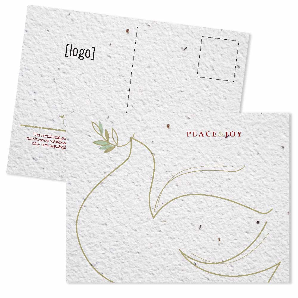 seed paper holiday postcard